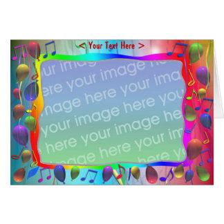 Födelsedagsfestmusikblandning (fotoramen) hälsningskort