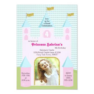 Födelsedagsfestslott för Princess Foto 12,7 X 17,8 Cm Inbjudningskort