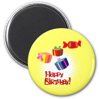 Födelsedagsötsaker & presenter magnet rund 5.7 cm