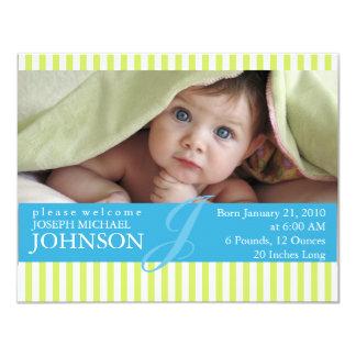 Födelsemeddelande 10,8 X 14 Cm Inbjudningskort