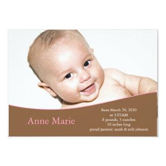 Födelsemeddelande 12,7 X 17,8 Cm Inbjudningskort