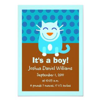 Födelsemeddelande för pojke 12,7 x 17,8 cm inbjudningskort