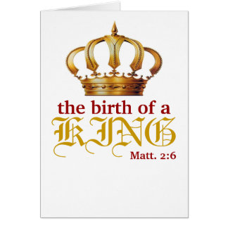 Födelsen av en KUNG, Matthew 2:6 OBS Kort