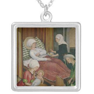 Födelsen av oskulden, c.1500 halsband med fyrkantigt hängsmycke