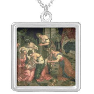 Födelsen av St John det baptistiskt, 1550-59 Halsband Med Fyrkantigt Hängsmycke