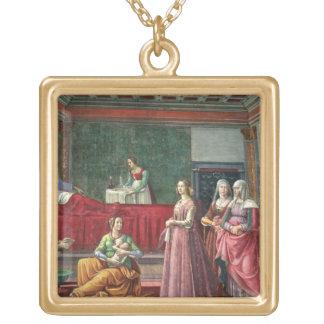 Födelsen av St John det baptistiskt (frescoen) (se Guldpläterat Halsband