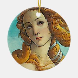 Födelsen av Venus - nära övre Julgransprydnad Keramik