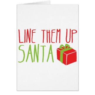 Fodra dem upp SANTA rolig juldesign Hälsningskort