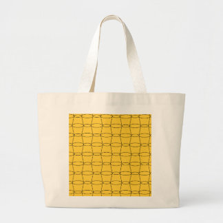Fodra konst - KOPPAR - svarten på gult Tote Bags