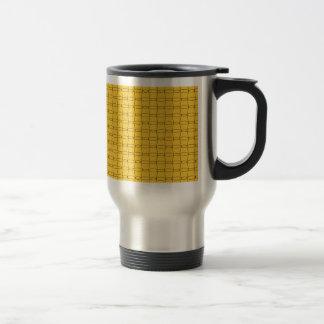 Fodra konst - KOPPAR - svarten på gult Rostfritt Stål Resemugg