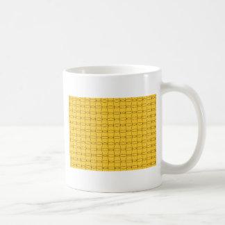 Fodra konst - KOPPAR - svarten på gult Vit Mugg