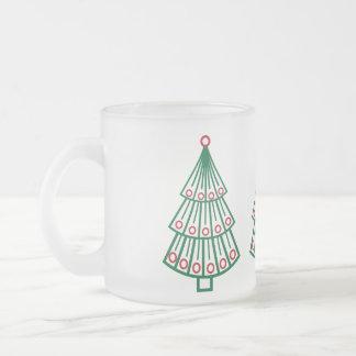Fodrad julgran frostad glasmugg
