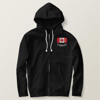 Fodrad tröja för Kanada flagga Sherpa
