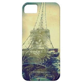 Fodral, beige och grönt för Eiffel torntelefon iPhone 5 Skydd