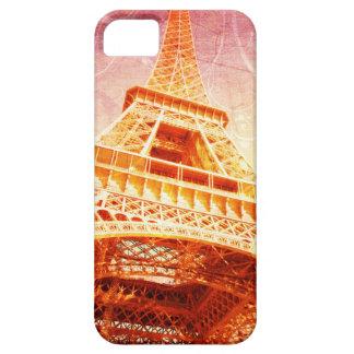 Fodral, Crimson och guld för Eiffel torntelefon iPhone 5 Case-Mate Cases