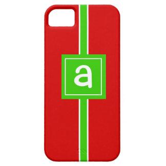 Fodral för beställnings- Monogram för julsjal iPhone 5 Cover