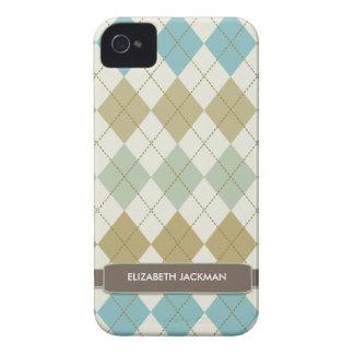 Fodral för blackberry bold för personligArgyle iPhone 4 Skydd