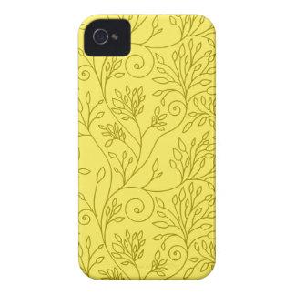 Fodral för blackberry bold för vintageblommigtgult iPhone 4 cases