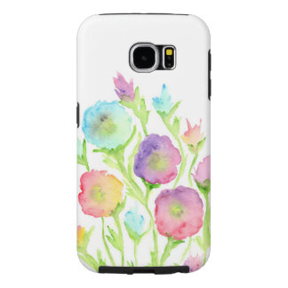 Fodral för blommigt för Samsung galax S6 Galaxy S5 Fodral