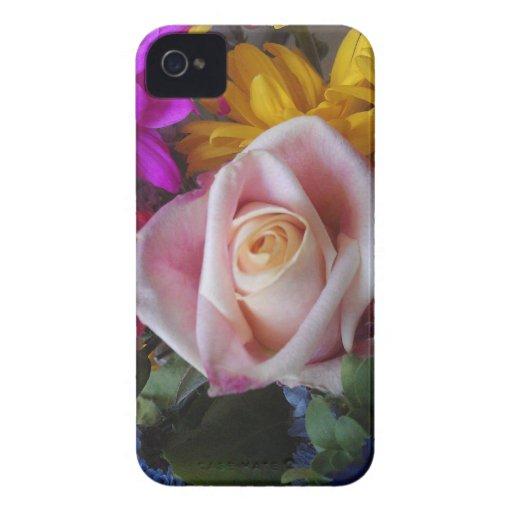 Fodral för blommigt knappt där för BlackberryBold iPhone 4 Hud