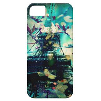 Fodral för Eiffel torntelefon, jadegrönt, blommigt iPhone 5 Case-Mate Fodraler