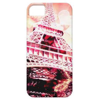 Fodral för Eiffel torntelefon, rosa, hjärtor, iPhone 5 Cover