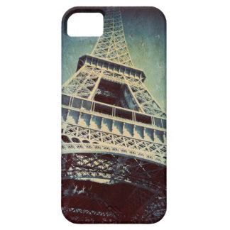 Fodral för Eiffel torntelefon som är djupblå iPhone 5 Cases