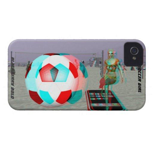 Fodral för flicka för fotboll för blackberry bolds Case-Mate iPhone 4 fodraler