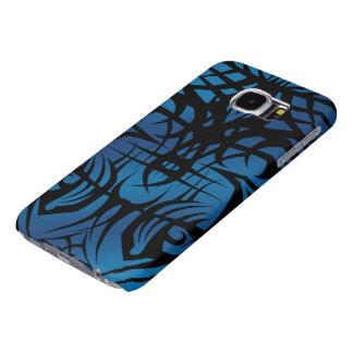 Fodral för galax S6 för blått stam- Galaxy S5 Fodral