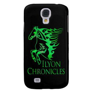 Fodral för häst för Samsung Ilyon krönikor grönt Galaxy S4 Fodral