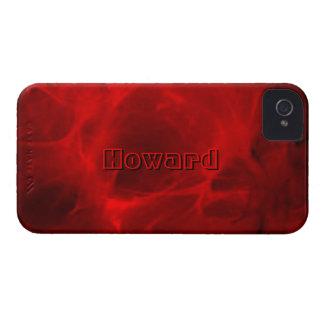Fodral för Howard rött Veined iPhone 4 iPhone 4 Cover