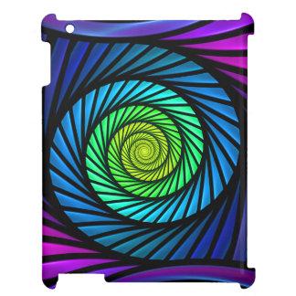 Fodral för iPad 2-3-4 för färgrik abstrakt Fractal iPad Skal