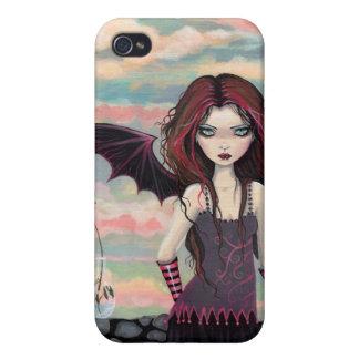 Fodral för iPhone 4 för gotisk rosa vampyr felikt iPhone 4 Fodraler
