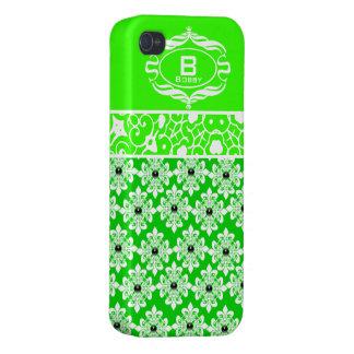 Fodral för iPhone 4 för grönt och för vit iPhone 4 Fodraler
