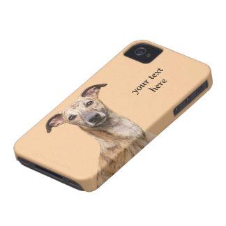 Fodral för iphone 4 för Whippet hundfoto mattt iPhone 4 Hud