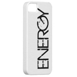 Fodral för iPhone 5/5S för energisvart knappt där iPhone 5 Fodraler