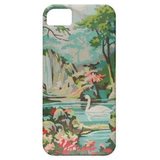 Fodral för iPhone 5/5s för svanar för vintage PBN iPhone 5 Case-Mate Fodral