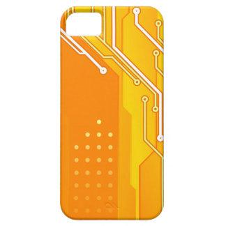 Fodral för iPhone 5 för för Techie mönsterorange & iPhone 5 Case-Mate Fodral