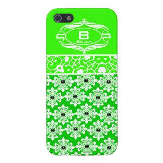 Fodral för iPhone 5 för grönt och för vit iPhone 5 Cover