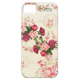 Fodral för iPhone 5 för rosa ros beställnings- iPhone 5 Skydd