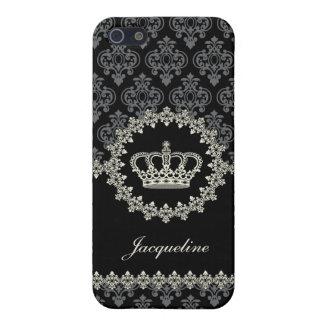 Fodral för iPhone 5 för vintagePrincess Damast Krö iPhone 5 Cases