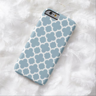 fodral för iPhone 6 - Aquamarineblått Quatrefoil Barely There iPhone 6 Skal
