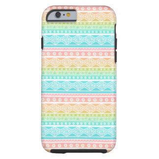 Fodral för iPhone 6 för Aquablåttsommar Aztec Tough iPhone 6 Skal