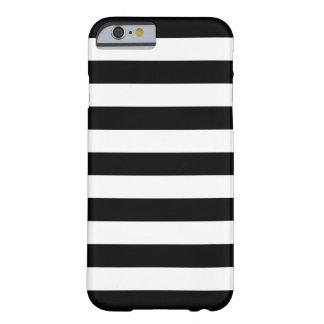 Fodral för iPhone 6 för djärva randar svartvitt Barely There iPhone 6 Skal