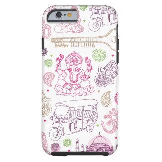 Fodral för iPhone 6 för konst för Indien Tough iPhone 6 Case