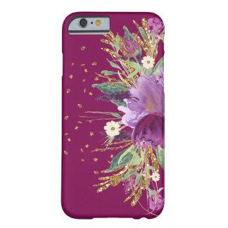 Fodral för iPhone 6 för nätt lilaglitter blom- Barely There iPhone 6 Fodral