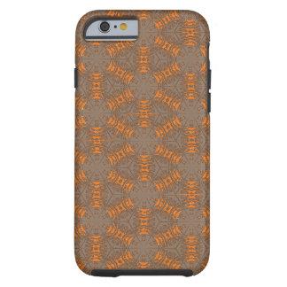 Fodral för iPhone 6 för orange och för mocka brunt Tough iPhone 6 Fodral
