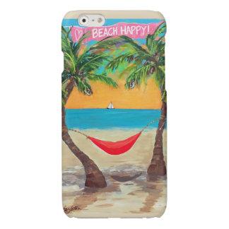 Fodral för iPhone 6 för strand lyckligt
