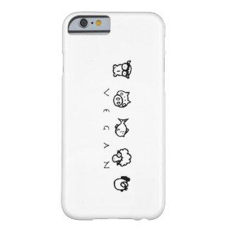Fodral för iPhone 6 för Vegandjurtelefon Barely There iPhone 6 Skal