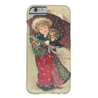 Fodral för iPhone 6s för jul för vintageVictorian Barely There iPhone 6 Fodral